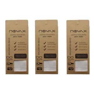 Pack 3 Novax Gamuza Microfibra Anti-vaho 8hrs